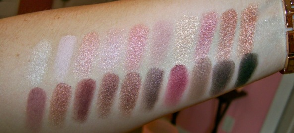 Swatches of the Coastal Scents Revealed 2 Palette.